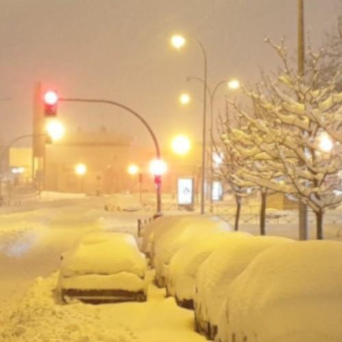Μαγικές εικόνες από την χιονισμένη Μαδρίτη.
