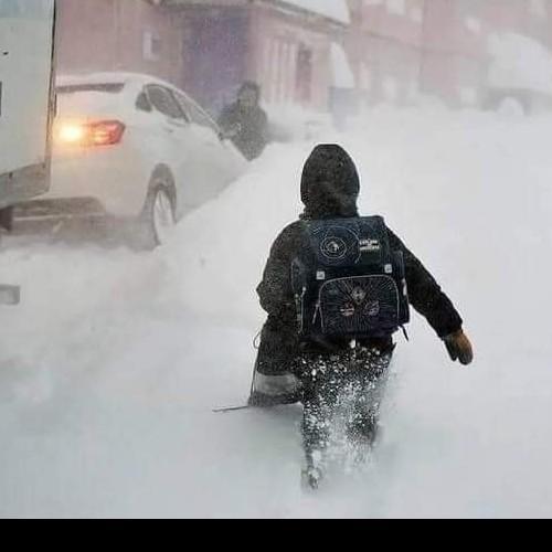 Μεγάλοι όγκοι χιονιού το τελευταίο διάστημα στην Ρωσία.