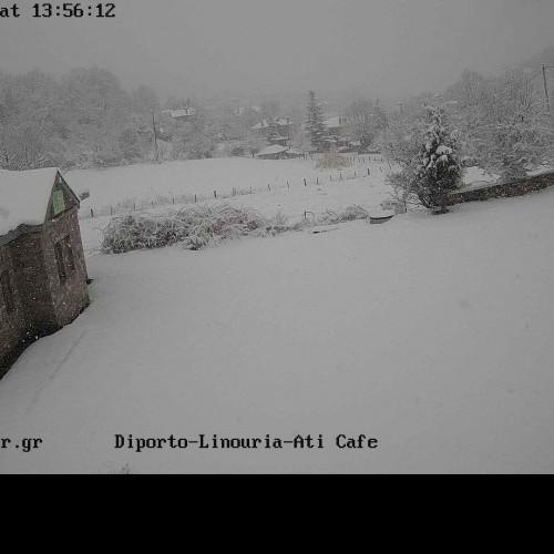 Πυκνές χιονοπτώσεις σε εξέλιξη στην Δυτική Μακεδονία και την ορεινή Θεσσαλία. Δείτε Live εικόνα