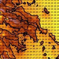 Συνθήκες καύσωνα με μέγιστες θερμοκρασίες στους 42-44 βαθμούς Κελσίου και υψηλές ελάχιστες. Αυξημένο αίσθημα δυσφορίας στα αστικά κέντρα.