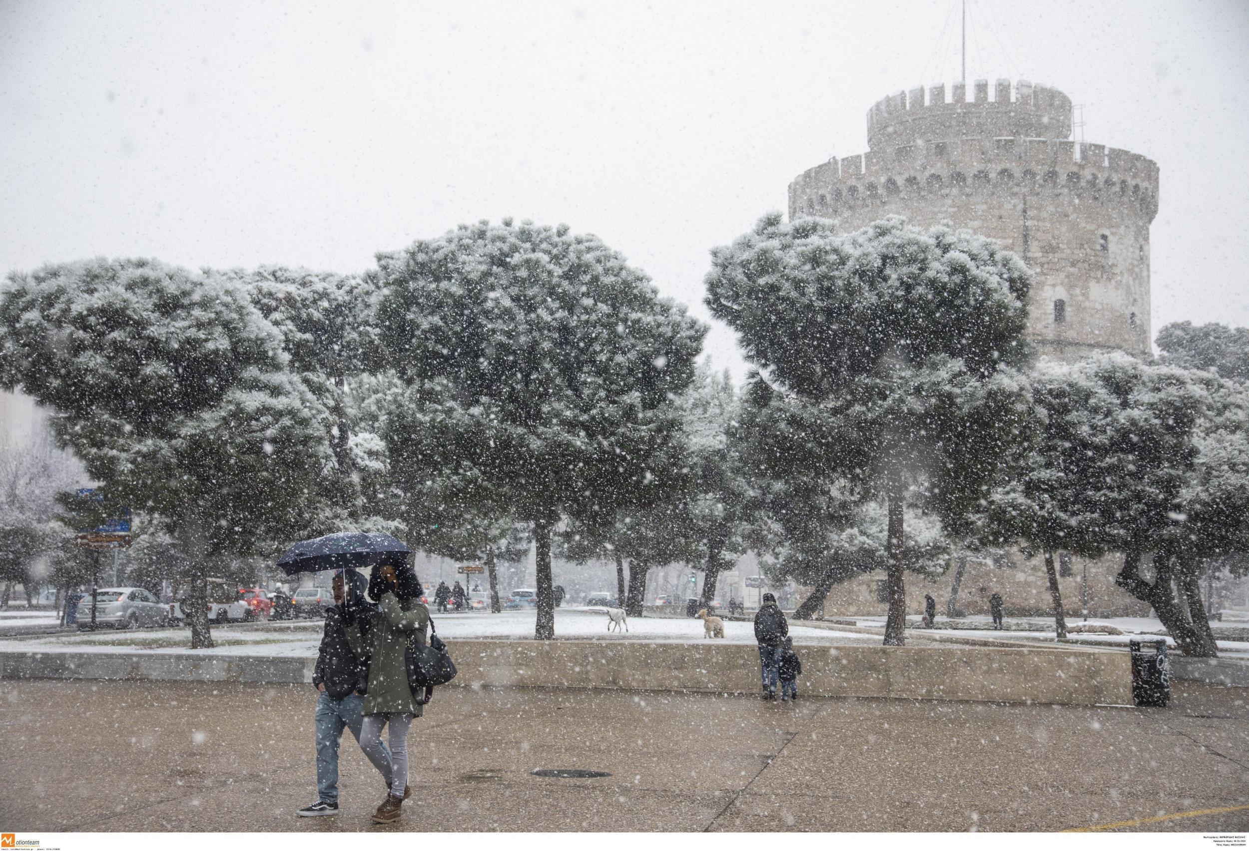 Πιθανή χιονόπτωση και στο κέντρο της Θεσσαλονίκης. Πρόγνωση καιρού 5/2/2020.