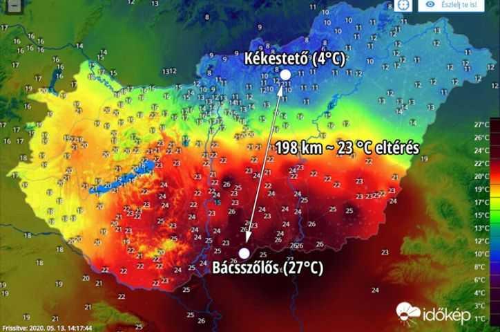 Εντυπωσιακή διαφορά θερμοκρασίας στην Ουγγαρία.