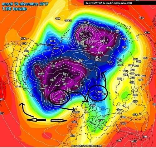 Ανοίγει η πύλη του χειμώνα-Ανάλυση κυκλοφορίας της ατμόσφαιρας.
