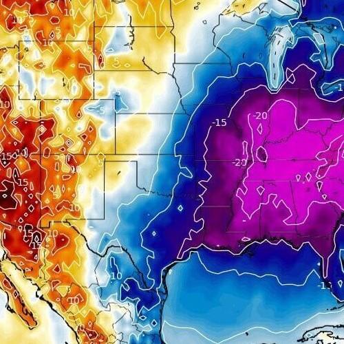 Η πιο ψυχρή μάζα αέρα των τελευταίων 100 ετών θα πλήξει την ανατολική ακτή των ΗΠΑ μέχρι το Σαββατοκύριακο