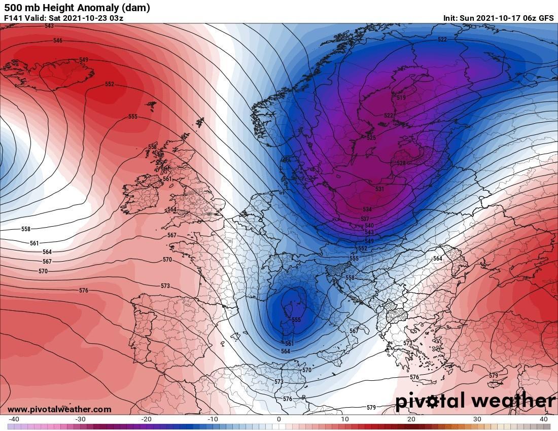 Άστατος καιρός κατά περιόδους / Εξέλιξη του καιρού μέχρι τέλη του Οκτώβρη...