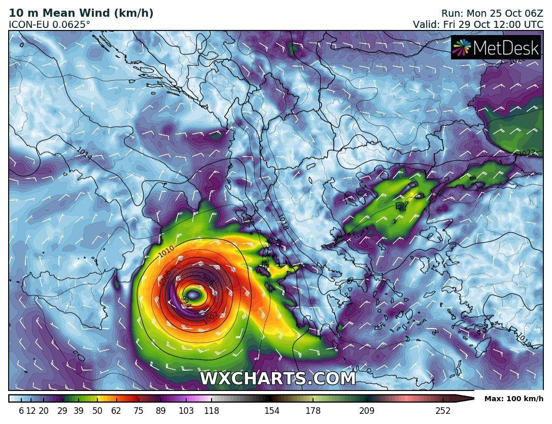 Πιθανή δημιουργία Μεσογειακού Κυκλώνα τέλος του μήνα?...