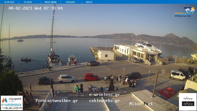 Τυχαία εικόνα από τις κάμερες Μήλος Λιμάνι