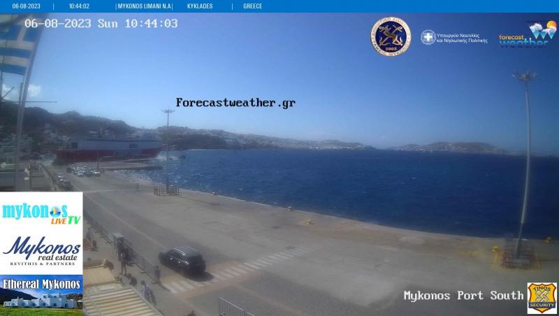 Τυχαία εικόνα από τις κάμερες Μύκονος Λιμάνι ΝΑ
